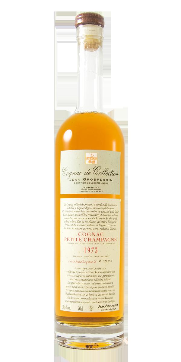 COGNAC PETITE CHAMPAGNE 1973 50.6% JEAN GROSPERRIN