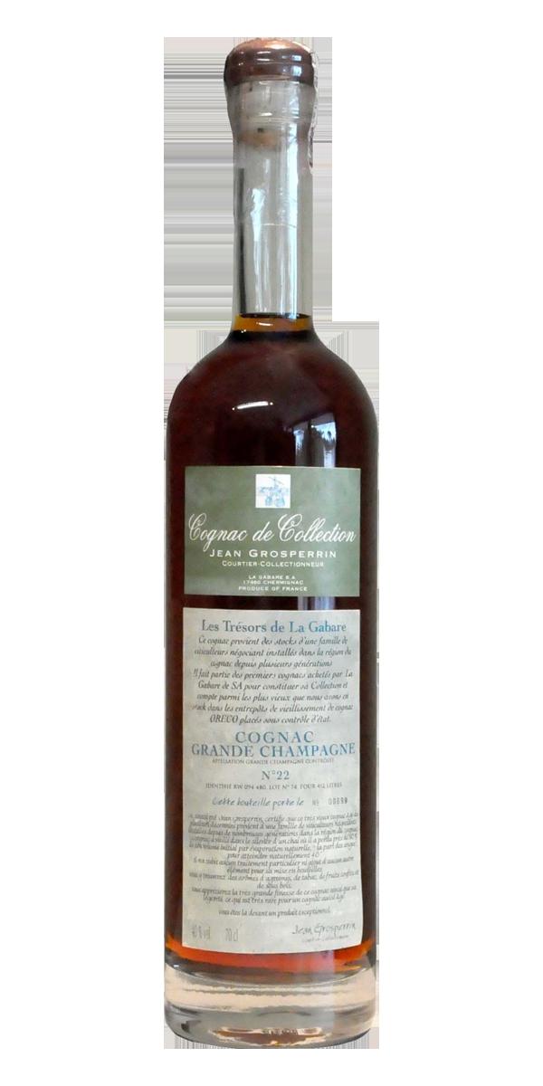 COGNAC N°22 GRANDE CHAMPAGNE 40% JEAN GROSPERRIN