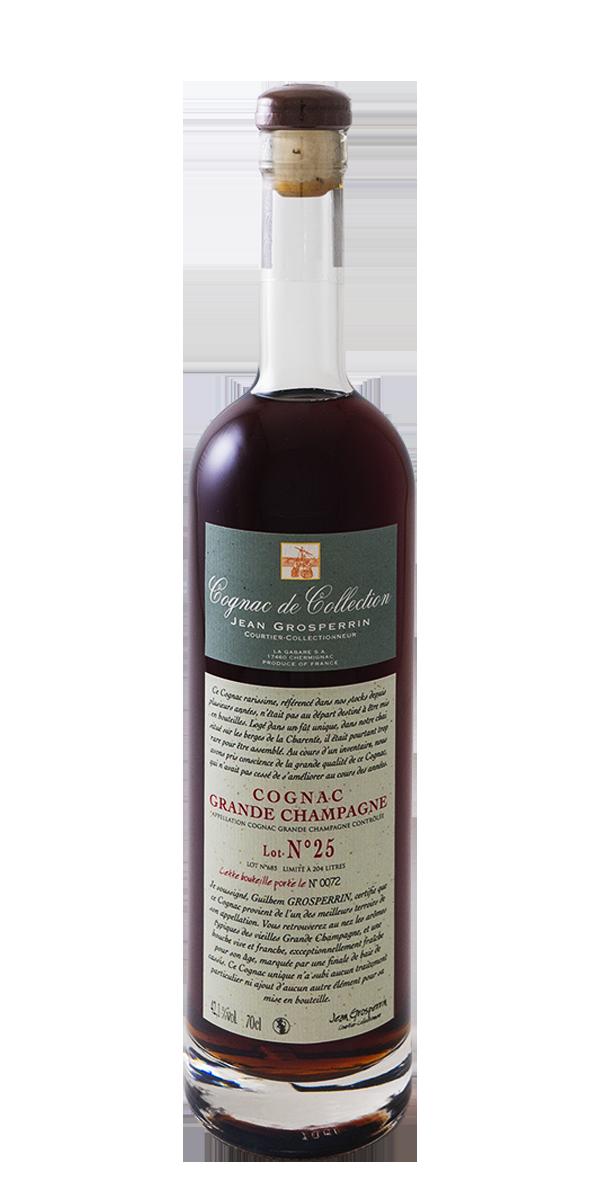 COGNAC N°25 GRANDE CHAMPAGNE 42.1% JEAN GROSPERRIN