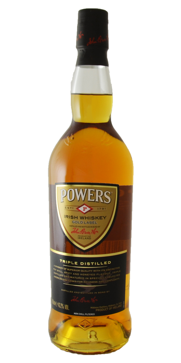 WHISKEY POWER'S GOLD LABEL 43.2%